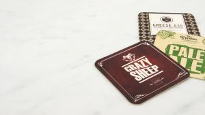 personalised bar mats and coasters